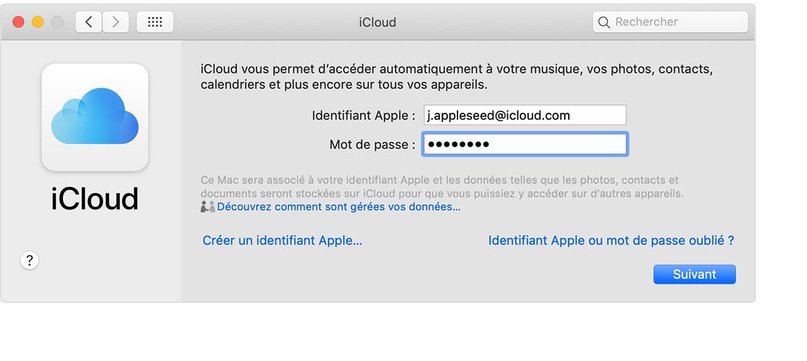 comment changer mon identifiant icloud sur mon mac