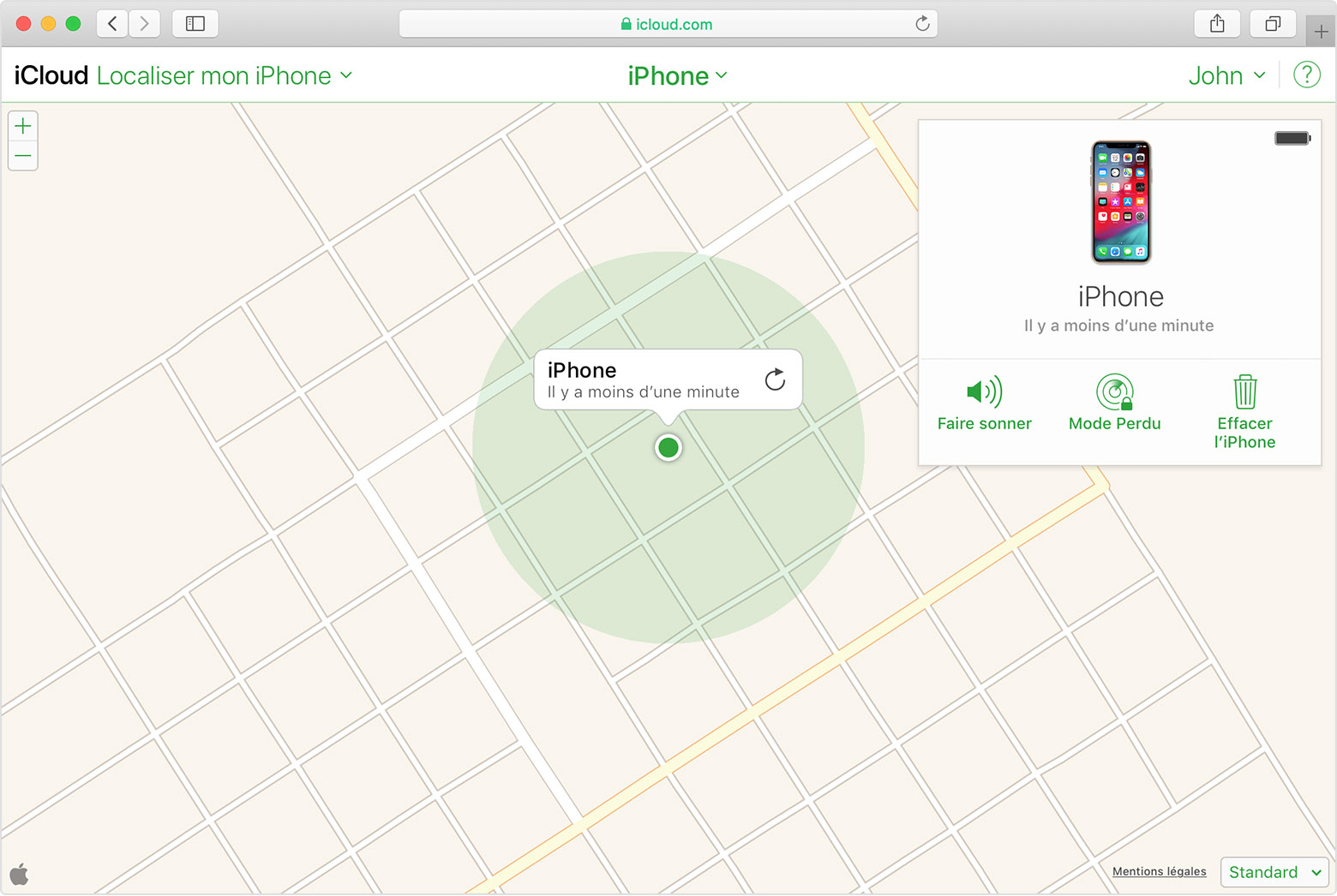 application localiser mon iphone sur mac