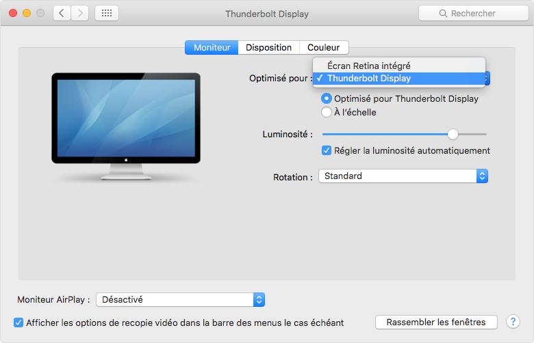 Utilisation d un cran retina assistance apple for Mac fenetre hors ecran