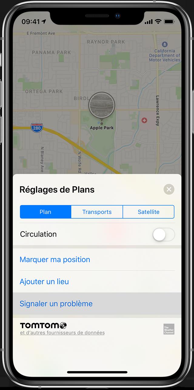 application de branchement droit pour iPhone