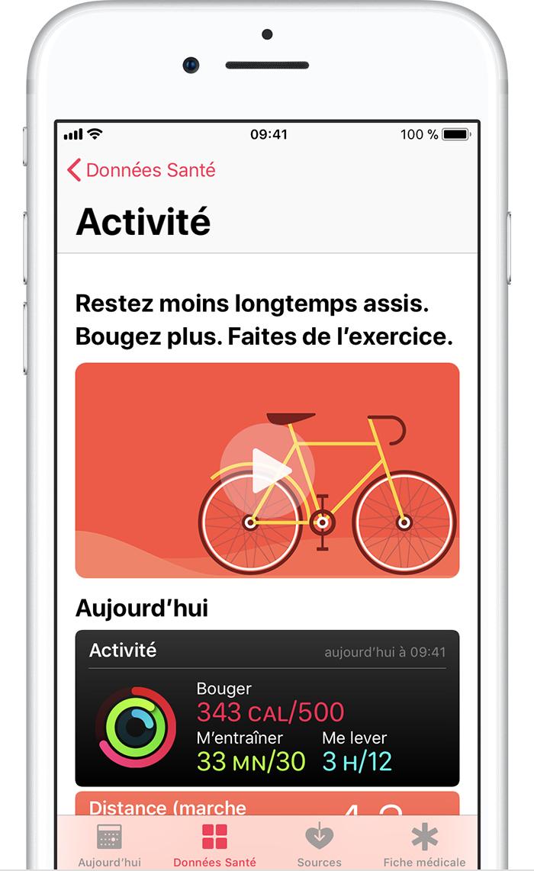 utilisation de l app sant sur votre iphone ou ipod touch assistance apple. Black Bedroom Furniture Sets. Home Design Ideas