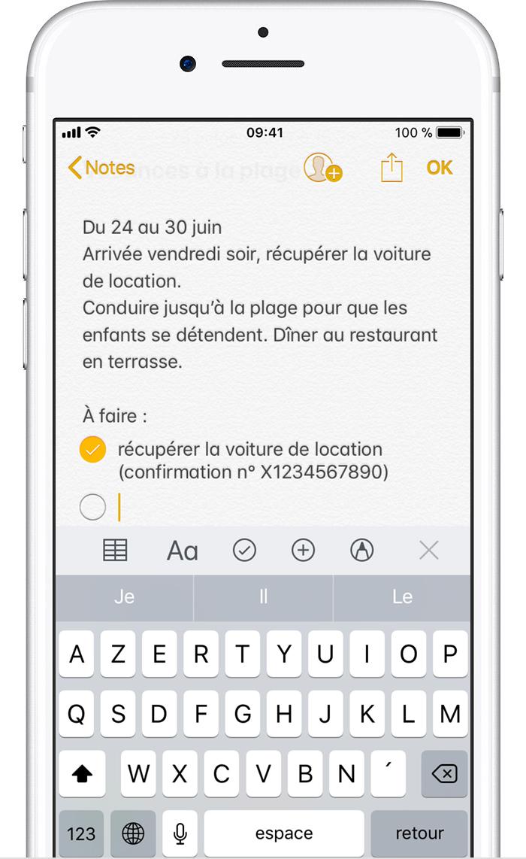 utilisation de notes sur votre iphone  ipad ou ipod touch