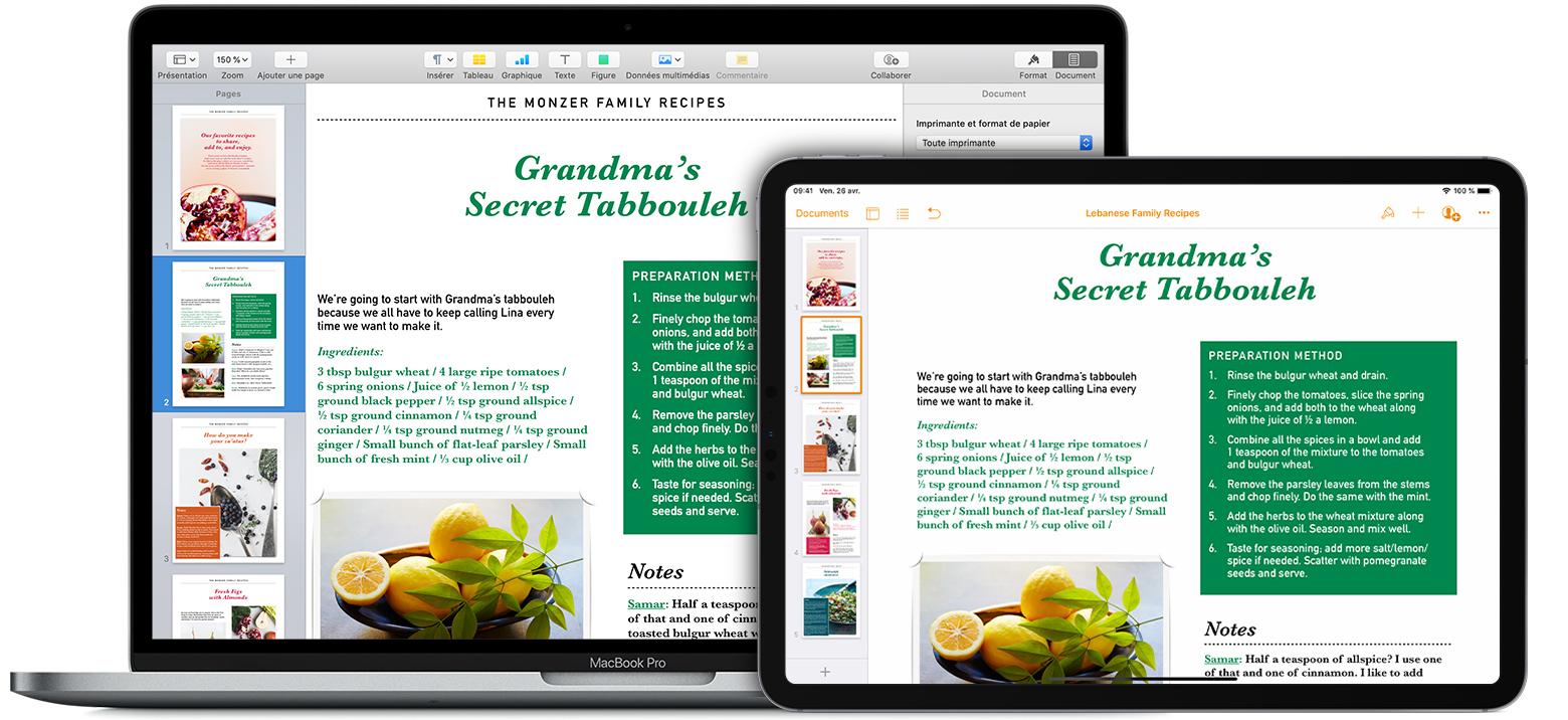 Mise En Page De Vos Documents Dans Pages Assistance Apple