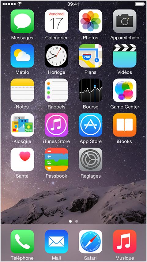 utilisation de la fonctionnalit zoom de l cran sur l iphone 6 et l iphone 6 plus assistance. Black Bedroom Furniture Sets. Home Design Ideas