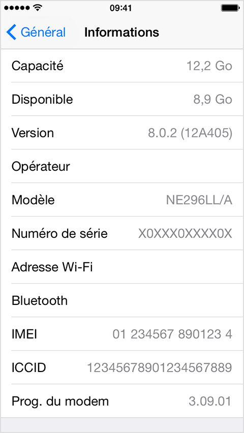 comment obtenir imei iphone 5