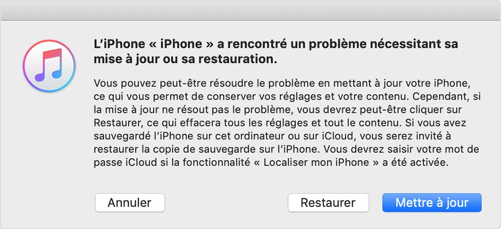 Mise A Jour Ou Restauration Impossible De Votre Iphone Ipad Ou Ipod