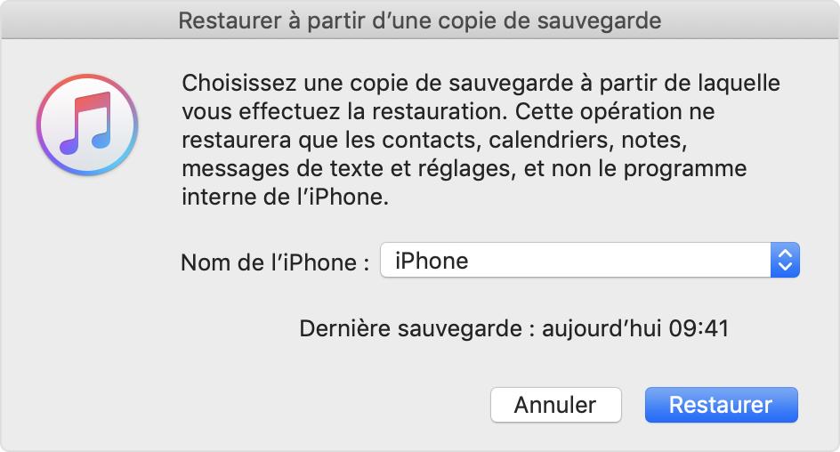 Restauration De Votre Iphone Ipad Ou Ipod Touch A Partir D Une