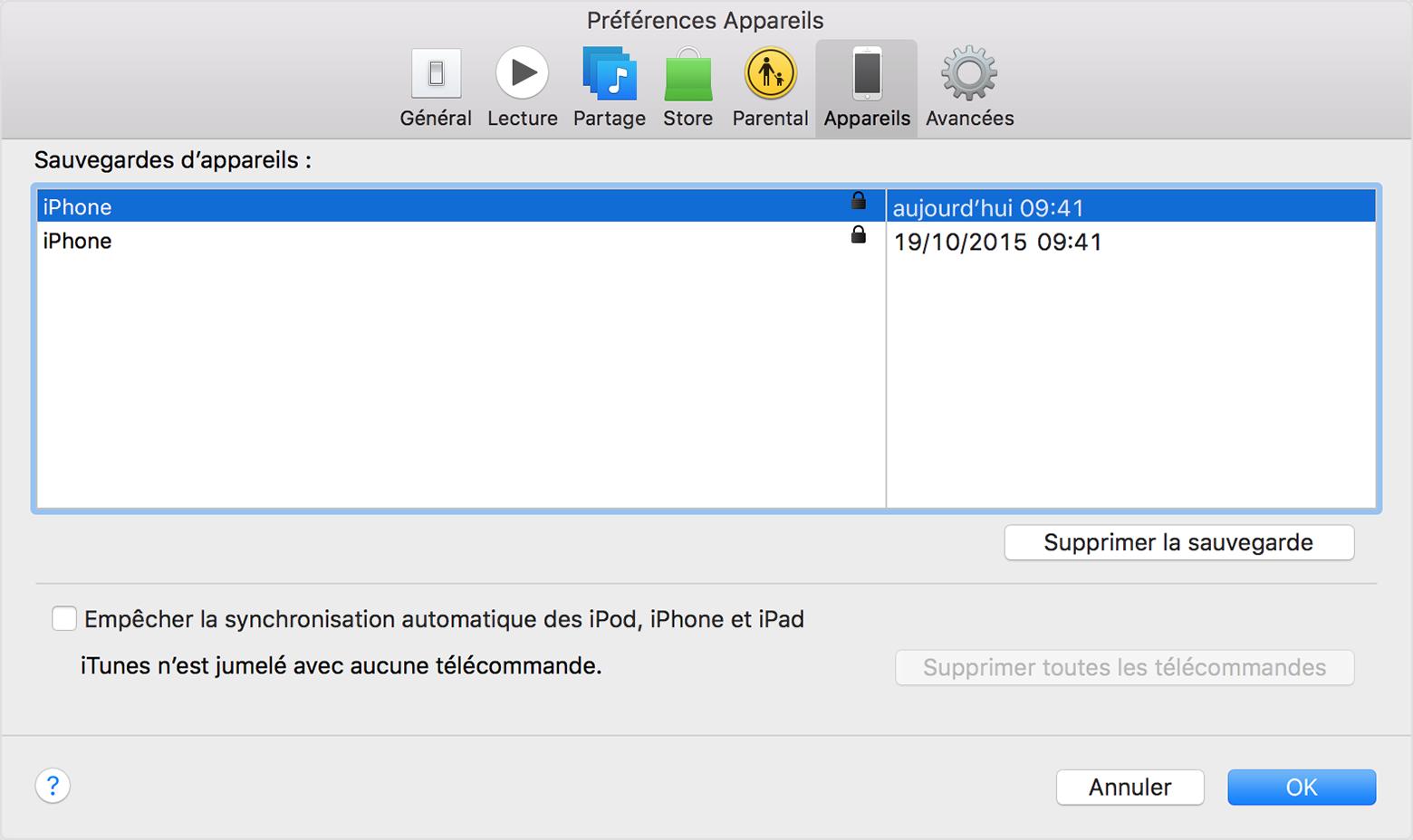 Lorsque on a oublié le mot de passe de sauvegarde cryptée de l'iPhone, et on ne se soutien de rien du mot de passe, on peut retrouver le mot de passe iTunes et entrer le mot de passe pour déverrouiller la sauvegarde cryptée iTunes.