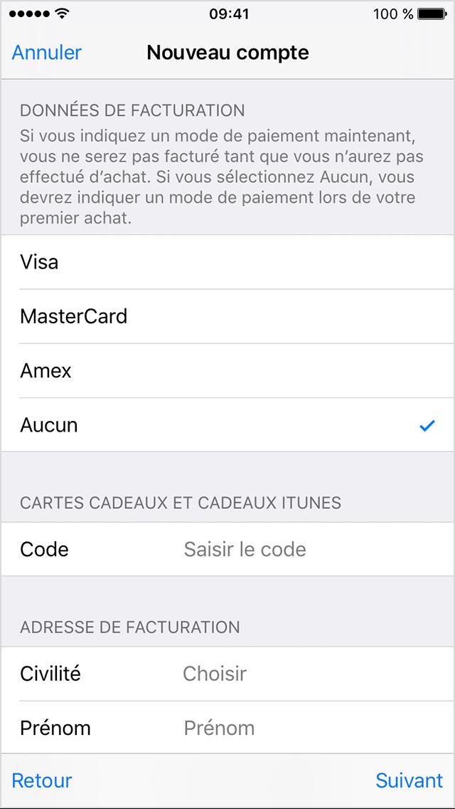 Créer un compte itunes pour iphone 6