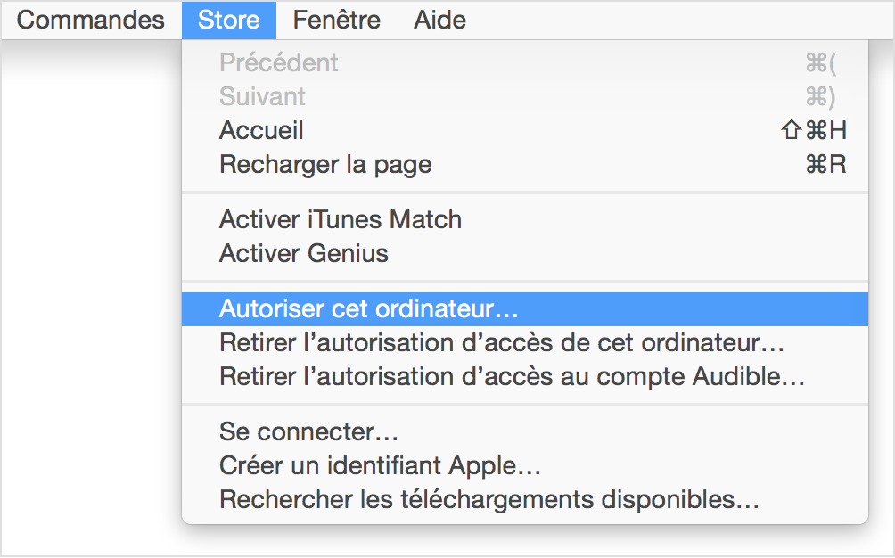 comment autoriser mac pas itunes ipod