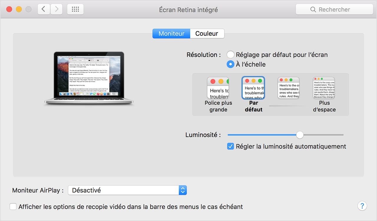Utilisation D Un Ecran Retina Assistance Apple