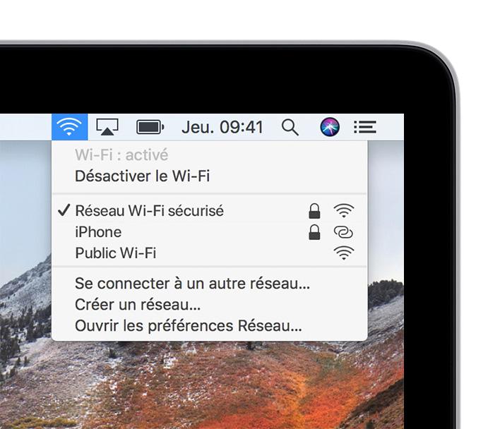 Liste des réseaux Wi,Fi