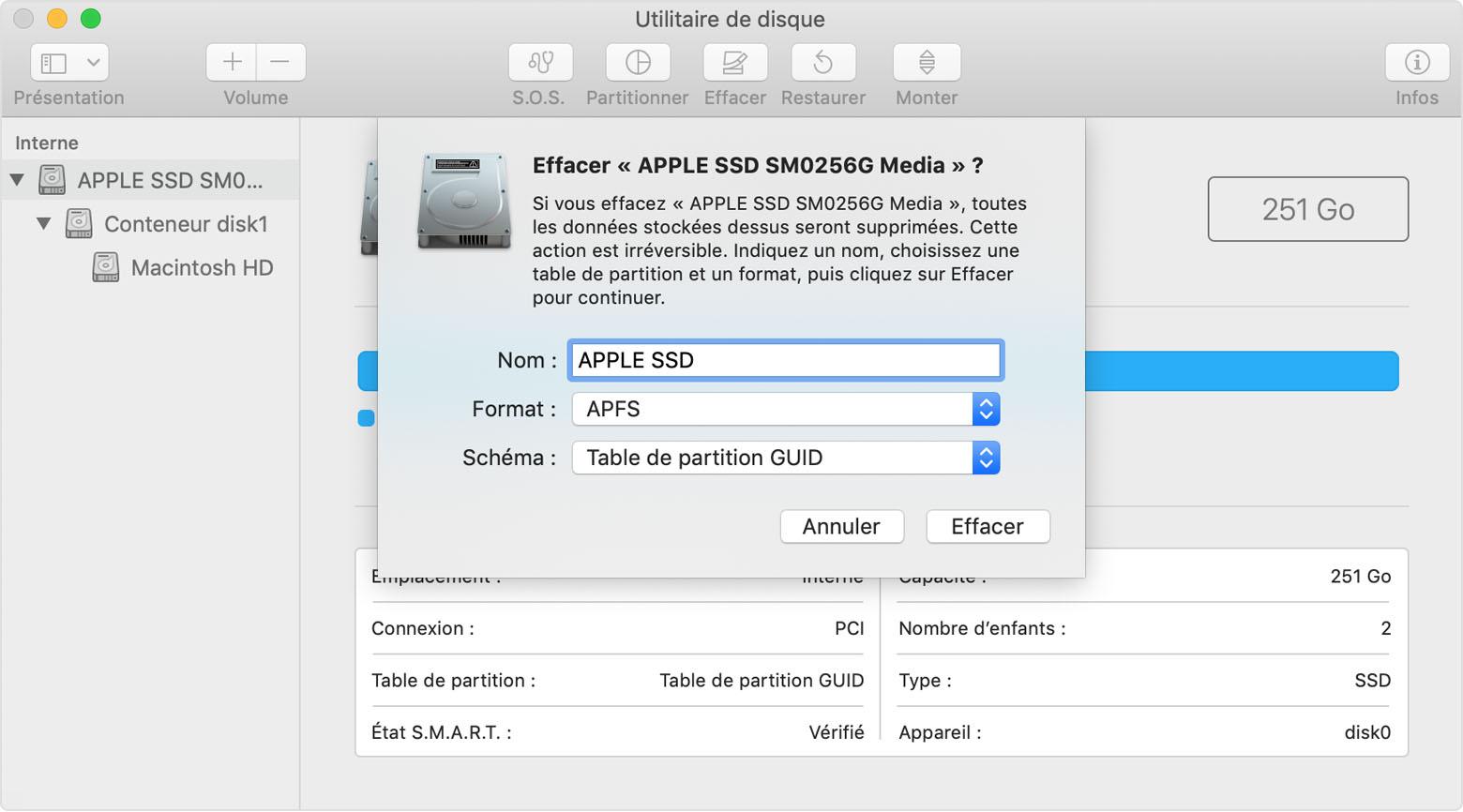 initialiser disque dur externe mac os x