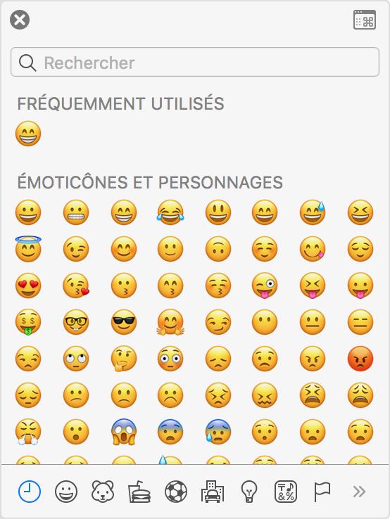 Comment saisir les accents les caract res emoji et les for Agrandir fenetre mac