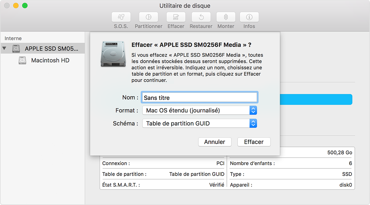r installation de macos assistance apple On fenetre utilitaire mac