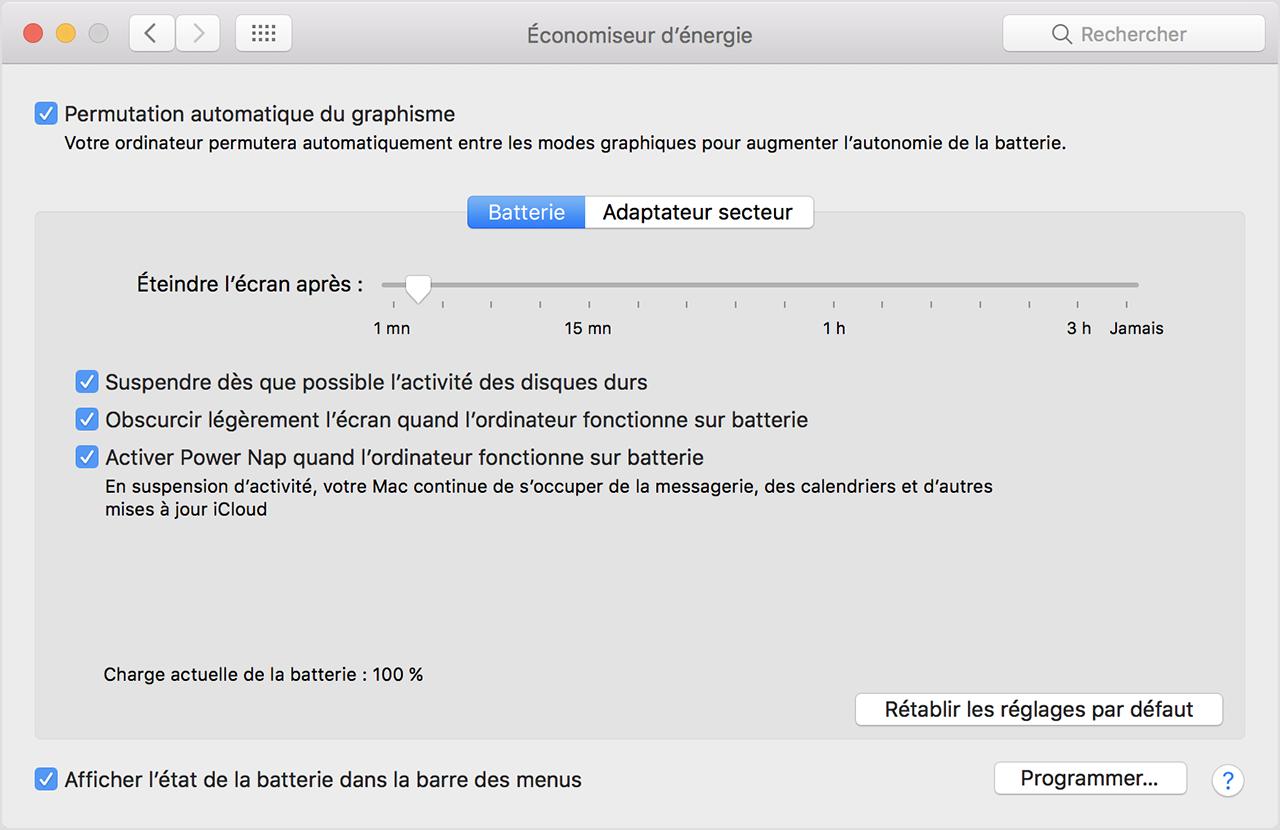 À propos de la batterie des ordinateurs portables Mac ...