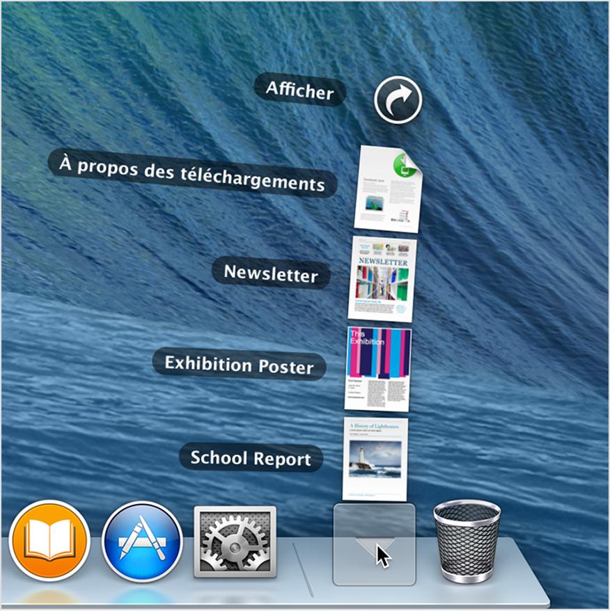 Les bases du mac le dock contient vos applications et for Reduire fenetre mac
