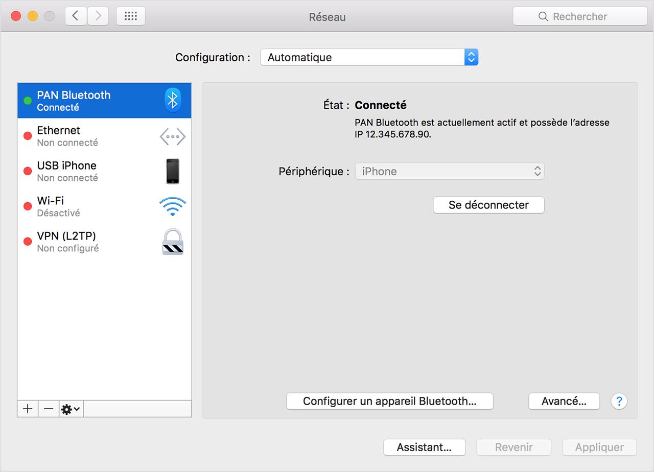 Partage Ecran Iphone Mac