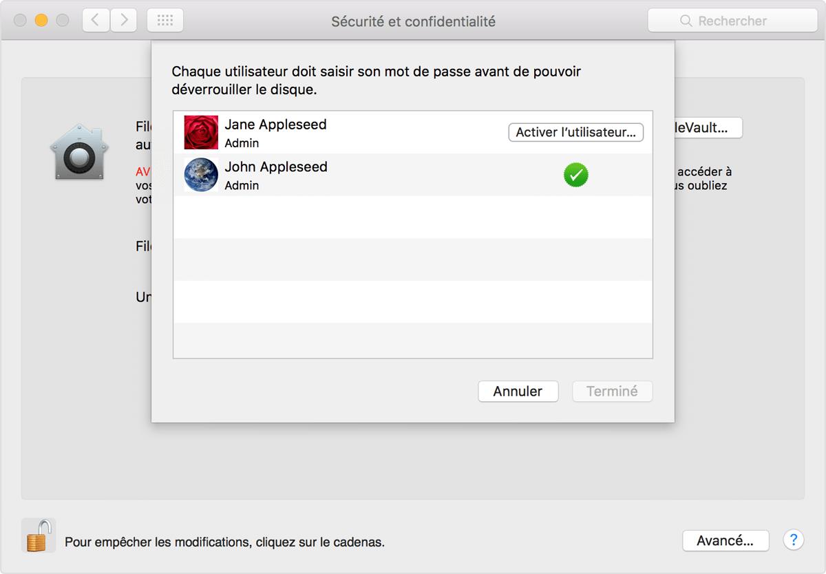 enlever le code administrateur mac