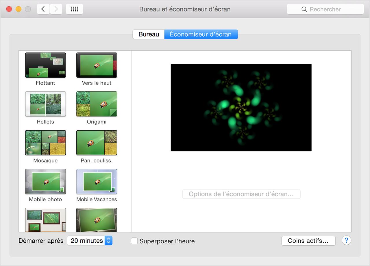 Comment afficher un conomiseur d cran sur votre mac for Ouvrir fenetre plein ecran