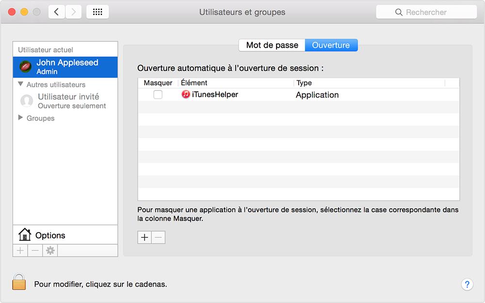 R ouverture automatique des fen tres apps et documents for Empecher ouverture fenetre pub