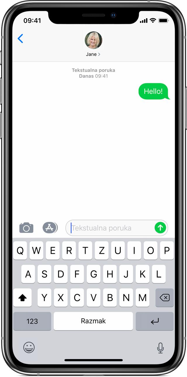 Slanje poruka s nekoga iz interneta