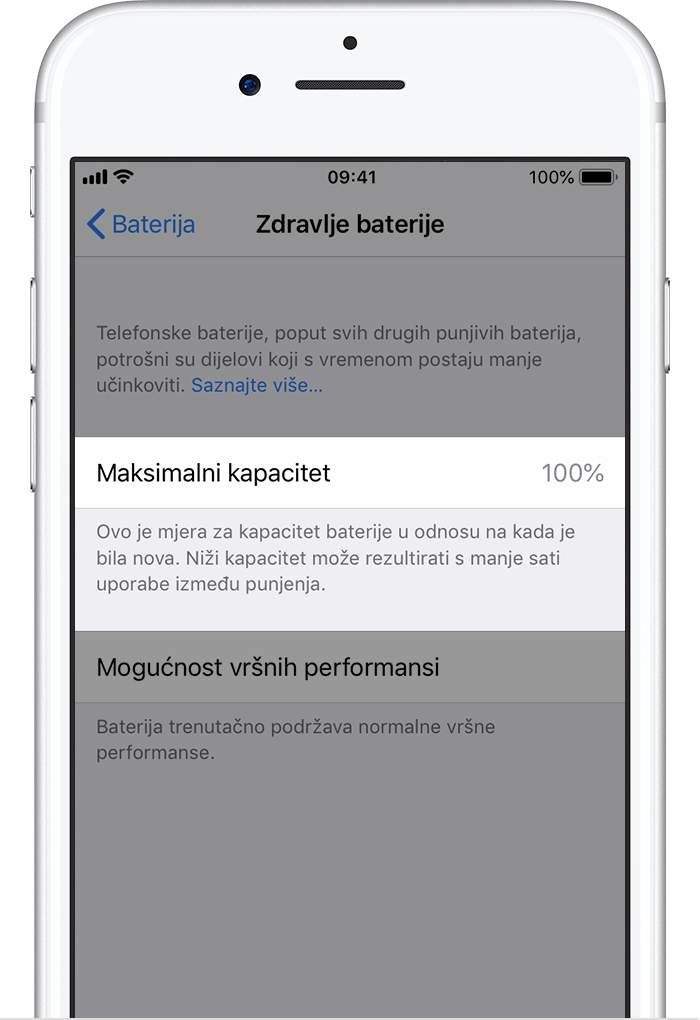 sports shoes 3834c 79efd Baterija i performanse iPhone uređaja - Apple Podrška