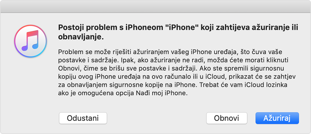 problem sa zaslonom iPhone uređaja