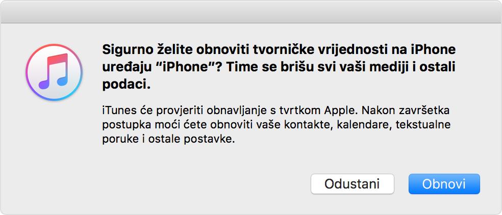 Uređaj iphone je blokiran