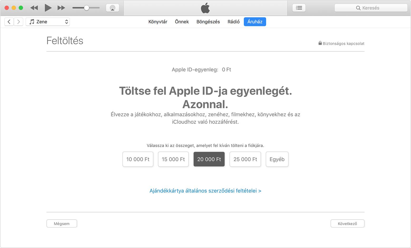 Az egyenleg feltöltése az Apple ID-fiókban - Apple Támogatás 84d6f2f696