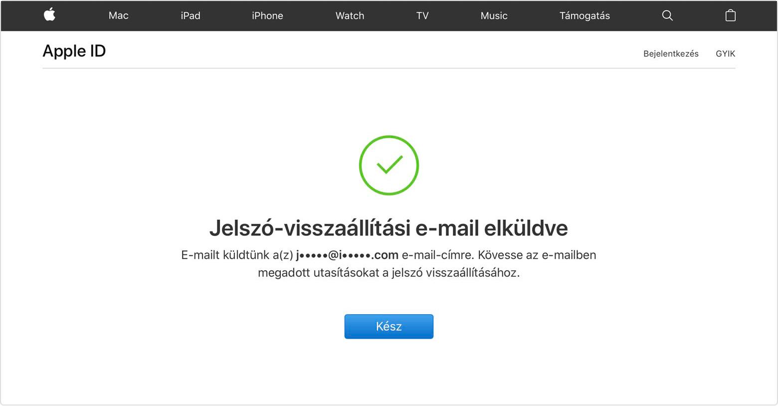 Bejelentkezés iPhone, iPad vagy iPod touch készüléken.