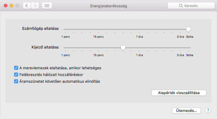 Mac mini bekapcsol