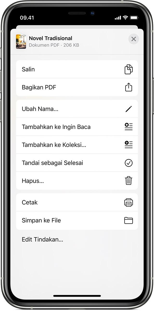 Simpan Dan Tandai Pdf Di Iphone Ipad Atau Ipod Touch Dengan App Buku Apple Support