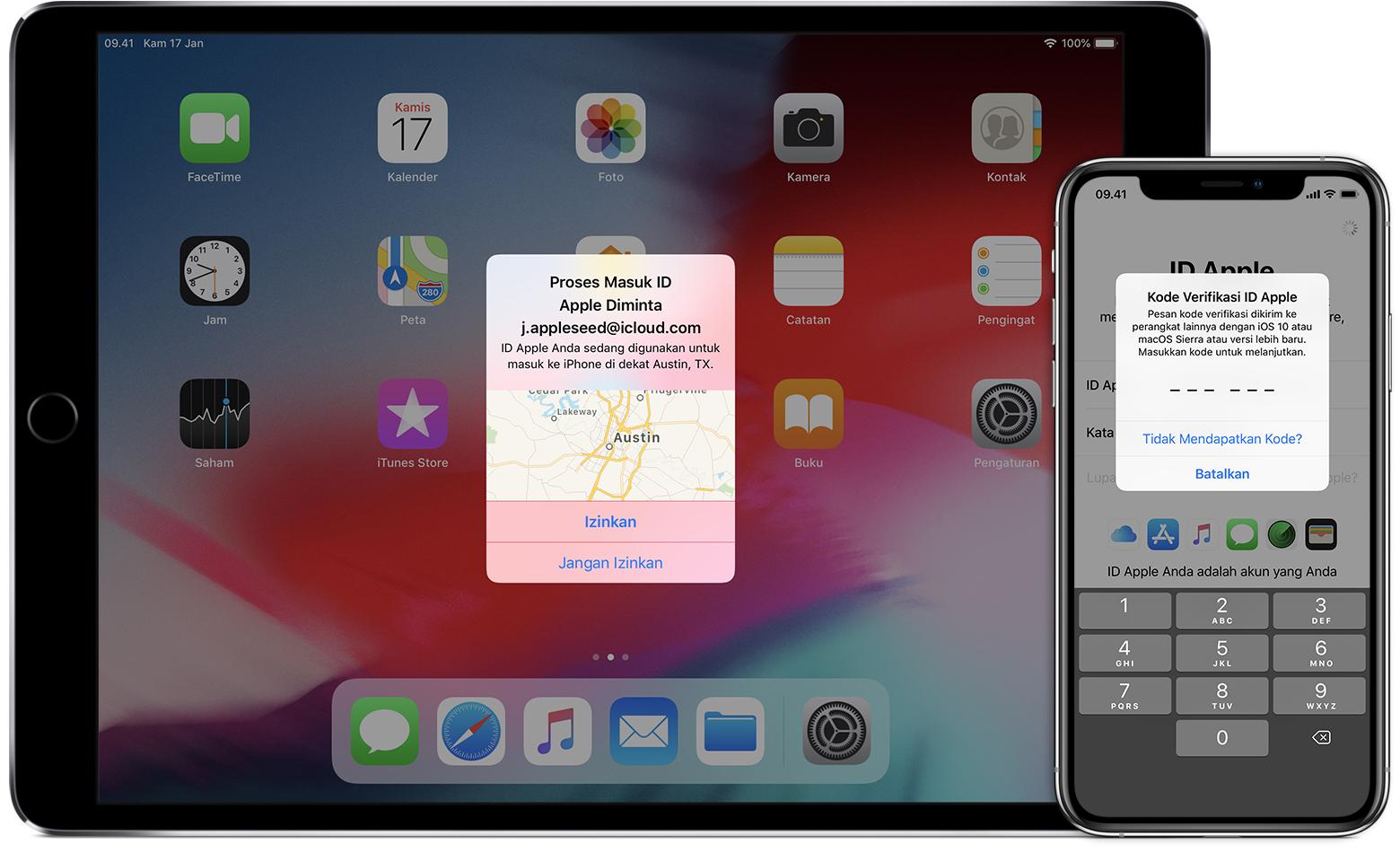 Autentikasi dua faktor untuk ID Apple - Apple Support 6106fc2842