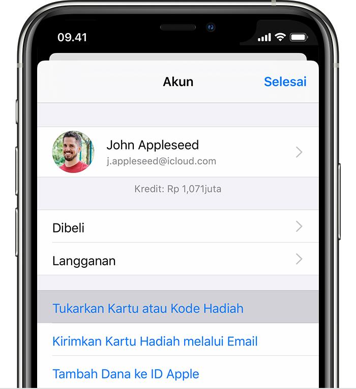 Menukarkan Kartu Hadiah App Store Itunes Anda Apple Support