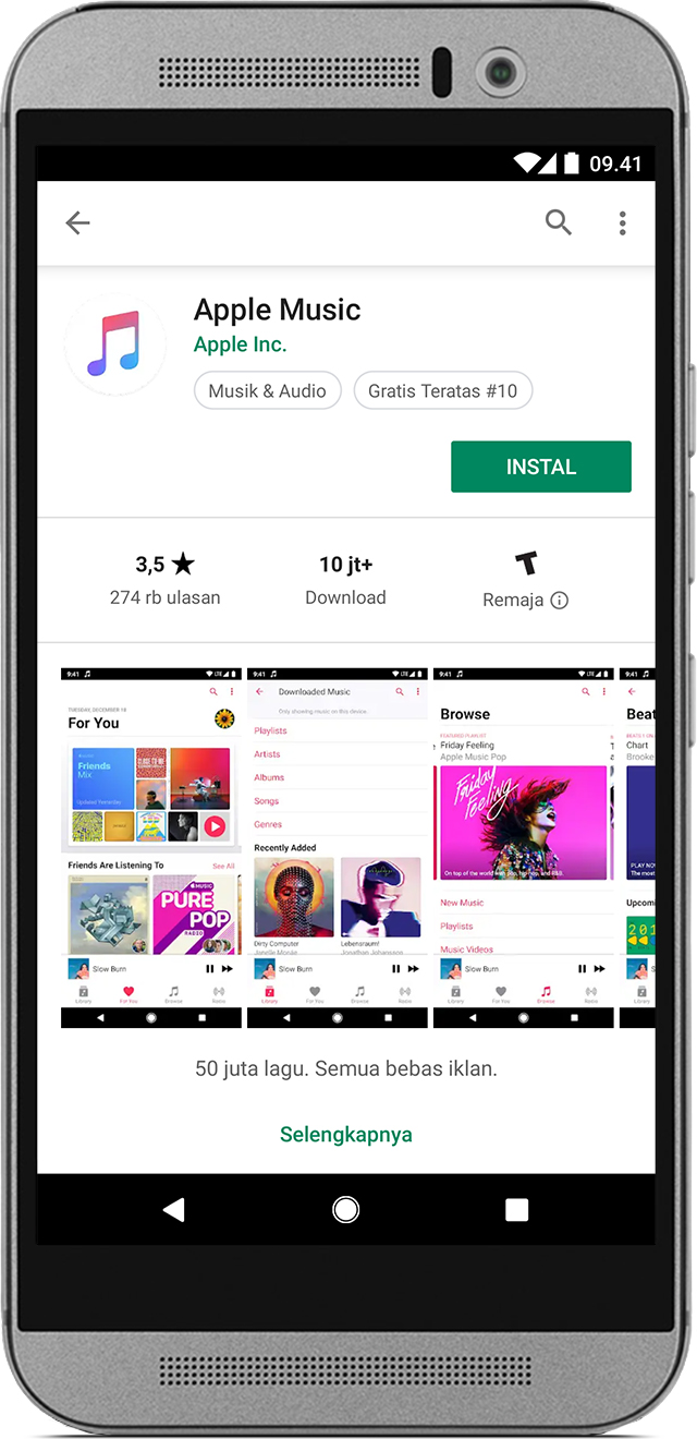 cara download lagu di itunes dengan android