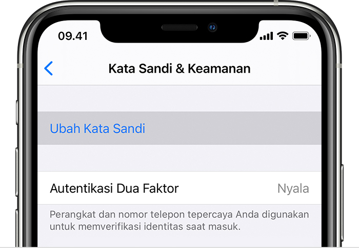 Mengubah Kata Sandi Id Apple Anda Apple Support