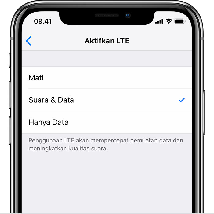 Mengenai Pilihan Lte Di Iphone Apple Support