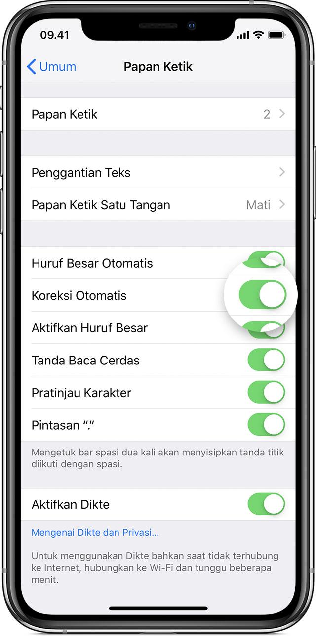 Cara Menggunakan Koreksi Otomatis Dan Teks Prediktif Di Iphone Ipad Atau Ipod Touch Apple Support