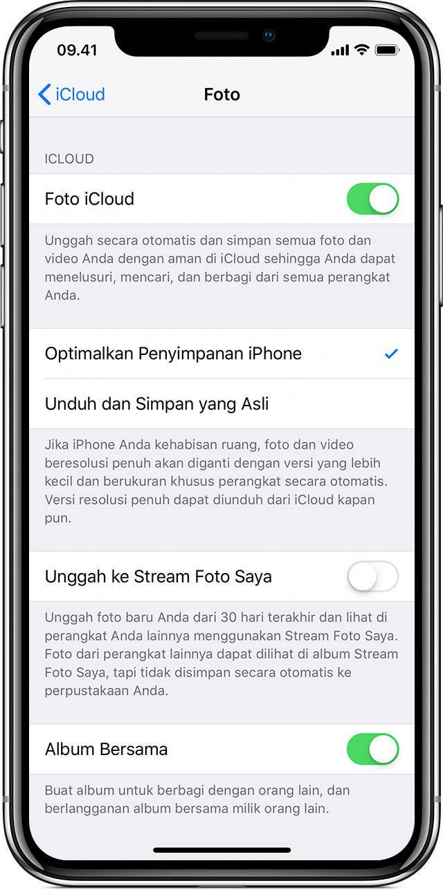 Mengatur Dan Menggunakan Foto Icloud Apple Support