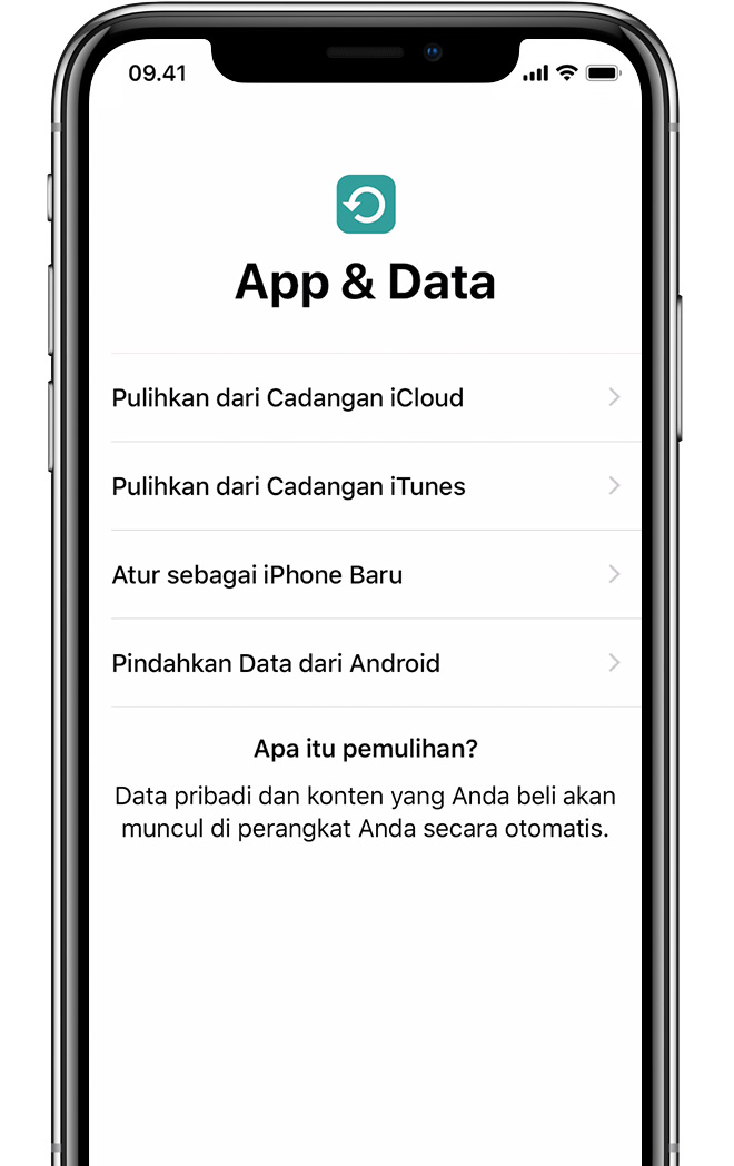 Layar App & Data di iPhone