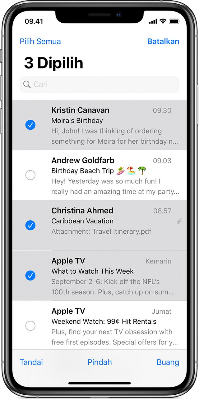 Cara menghapus email di iPhone, iPad, dan iPod touch Anda - Apple ...