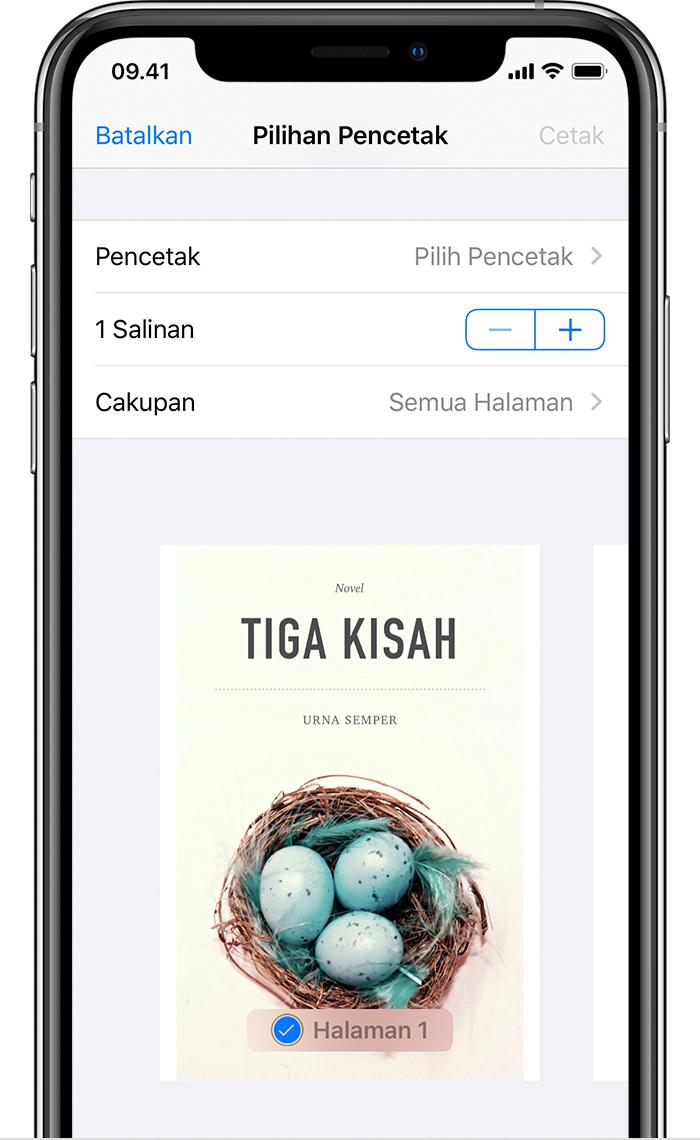 Menggunakan AirPrint untuk mencetak dari iPhone, iPad, atau iPod