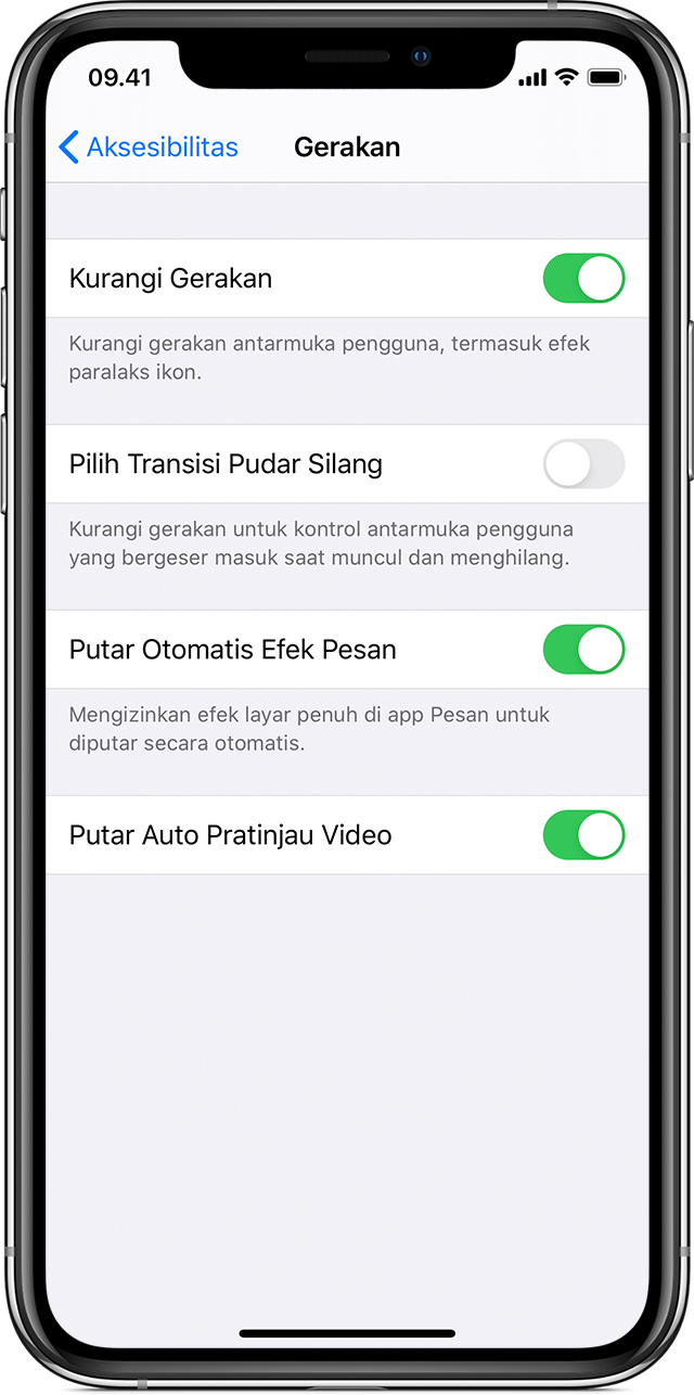 Mengurangi Gerakan Layar Di Iphone Ipad Atau Ipod Touch Apple Support