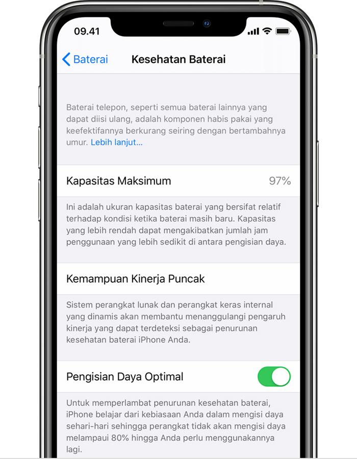 Mengenai Pengisian Baterai Yang Dioptimalkan Pada Iphone Apple Support