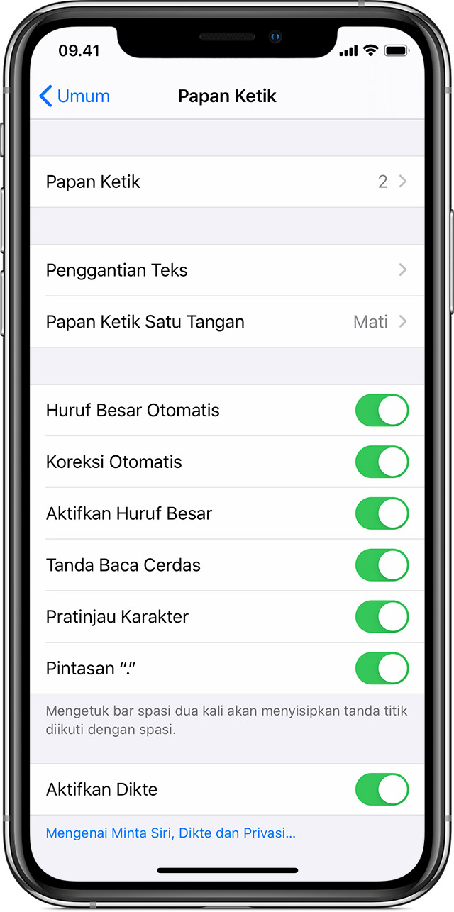 Mengenai Pengaturan Keyboard Di Iphone Ipad Dan Ipod Touch