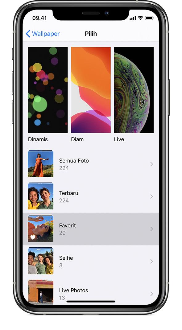 ios13 iphone xs settings wallpaper choose