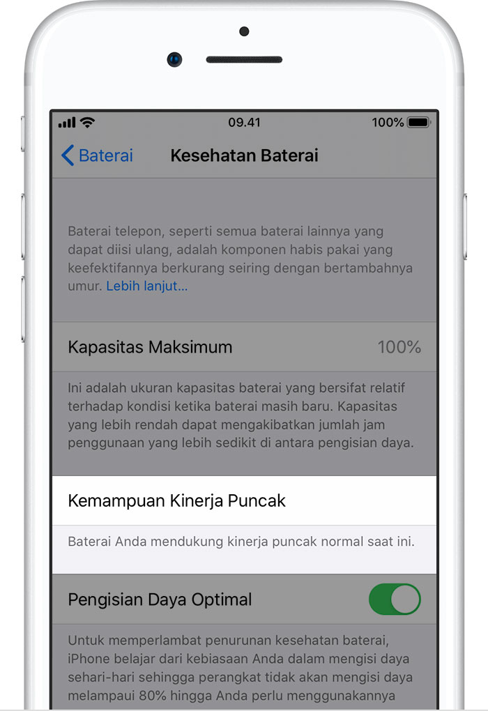 Baterai Dan Kinerja Iphone Apple Support