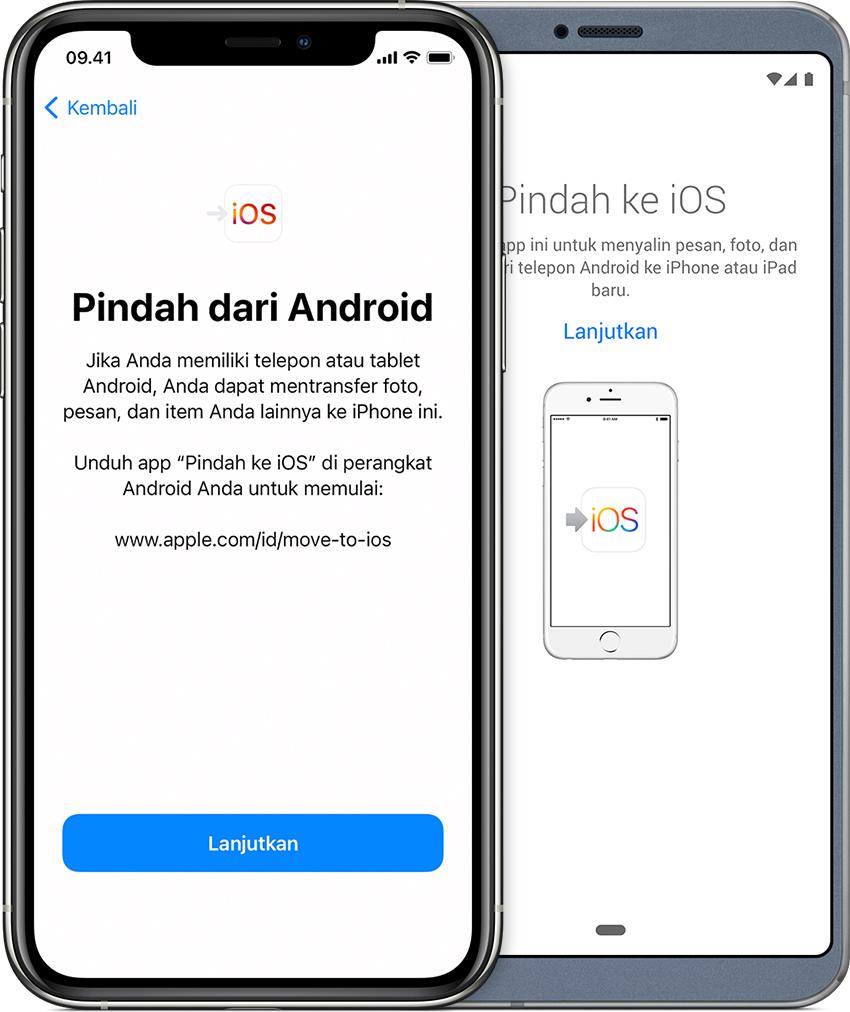 Beralih dari Android ke iPhone, iPad, atau iPod touch - Apple Support