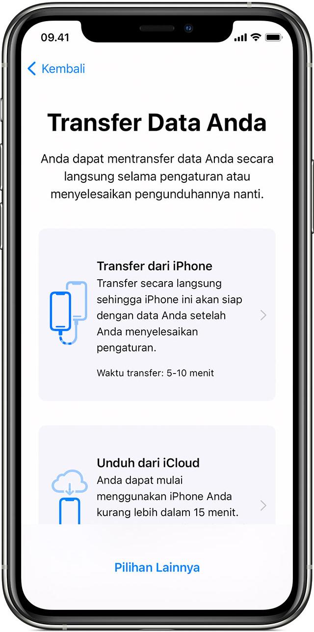 Gunakan Mulai Cepat Untuk Mentransfer Data Ke Iphone Ipad Atau Ipod Touch Baru Apple Support